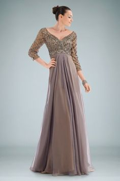 Chic V-neck A-line Evening Gown Featuring Beaded Bodice and V-Back Design