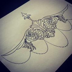 lace sternum tattoo designs - Google Search