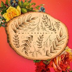 Well, this is a super old repost, but we LOVE that floral pattern and this wood burned piece.
