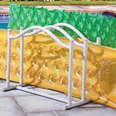 Pool Float Organizer... another one that'd be easy to make out of pvc pipe