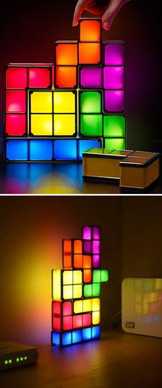 Tetris stackable lamp - for the gamer geek on your list!
