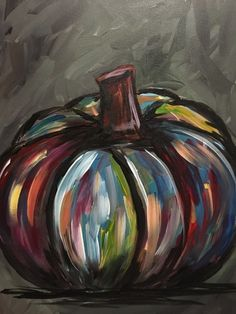 Join us for a Paint Nite event Mon Nov 2014 at 8025 S Cass Ave. Purchase your tickets online to reserve a fun night out! Fall Canvas Painting, Autumn Painting, Autumn Art, Canvas Paintings, Halloween Painting, Halloween Art, Painted Pumpkins, Painted Rocks, Wine And Canvas