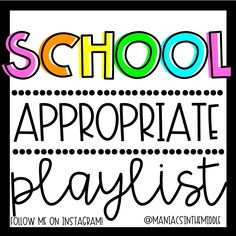 Classroom Playlists - Maniacs in the Middle Middle School Classroom, First Grade Classroom, Music Classroom, School Kids, Music Teachers, Songs For The Classroom, Future Classroom, School Stuff, Classroom Organization