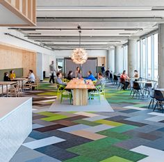 Echecs dans le bureau   Architecture au Stylepark – Modulare Teppichelemente