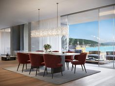 """Penthouse """"Electric View"""" im Schloss Velden Conference Room, Electric, Dining Table, Furniture, Home Decor, Dinner Table, Homes, Decoration Home, Room Decor"""