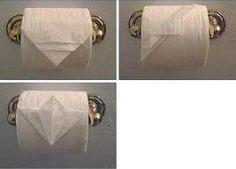 Origami no papel higiênico - Coisas da Léia