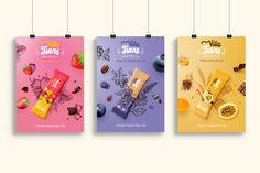 Cereal bar - Vita Tiens on Behance Kids Packaging, Food Packaging Design, Packaging Design Inspiration, Cereal Packaging, Biscuits Packaging, Cereal Bars, Graphic Design Branding, Cookies Et Biscuits, Creations