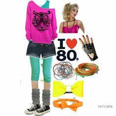 80s party ideas Costume Année 80, 80s Party Costumes, 80s Halloween Costumes, Costume Ideas, 80s Costumes For Kids, Diy Halloween, Retro Party, 90s Party, Neon Party