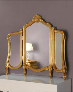 Wallingford Gold Framed Regency Ornate Dressing Table Glass Mirror