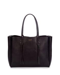 L0K8X Lanvin Leather Medium Fringe Tote Bag