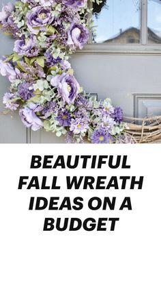 Wreath Crafts, Diy Wreath, Wreath Ideas, Front Door Decor, Wreaths For Front Door, Spring Home Decor, Fall Decor, Flower Wall Backdrop, Backdrop Wedding