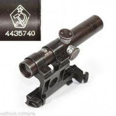 Original WW2 Russian Mosin-Nagant 91/30 PU sniper scope 1944 complete set