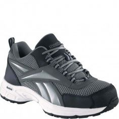 37d5dcf553ae RB485 Reebok Women s Cross Trainer Safety Shoes - Grey Navy www.bootbay.com