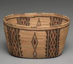 Bowl, c 1900- 1910 | Great Basin, Paramint-Shoshone | Willow, devil's claw, yucca root; coiled (3 rods)
