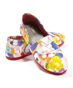 Another great find on #zulily! Yellow Pansy Vegan Classics - Women by TOMS #zulilyfinds $34.99.  Reg. $54
