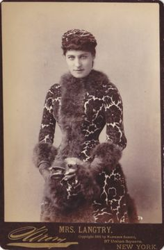 Rare Antique 1890s Cabinet Card Photo Actress Mrs Lillie Langtry Sarony Theater