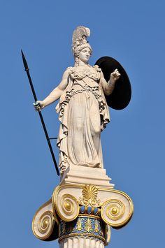 athena sculpture Statue Of Athena Poster by George Atsametakis. All posters are professionally printed, packaged, and shipped within 3 - 4 business days. Choose from multiple sizes and hundreds of frame and mat options. Ancient Greek Sculpture, Greek Statues, Ancient Art, Buddha Statues, Stone Statues, Angel Statues, Athena Statue, Zeus Statue, Ancient History