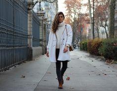 Outfit @marieandmood // White coat oversize // @sheinside  www.marieandmood.com