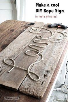 Altes Holz Paketschnurr Heisskleber Selbermachen Seile Treibholz Bastelei