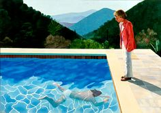 """David Hockney ~ """"Portrait of an Artist (Pool with Two Figures)"""" 1972"""