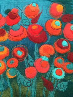 Wet felt - Machine Embroidery Nicola Overton - Art Felt Colour