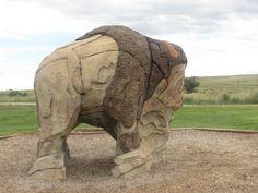 "An interesting stone ""sculpture"" at EKW State Park, near Casper, Wyoming"