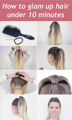 Want to get tips on how to glam up hair under 10 minutes! Here is the article on how you can fix and shine your hair simply at home. So read on the article on glam up your hair in less then 10 minutes!