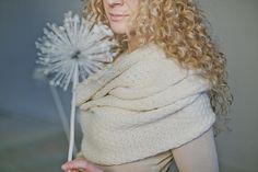 Woman alpaca wool Scarf / Loop Scarf / Cowl Scarf