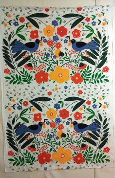 Tampella Finland Linnut Vintage Fabric 2 Yards Beautiful   eBay