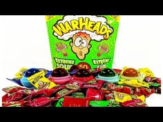 DIY: EOS you CAN EAT!! WAR HEADS Candy Treat!  Super Sour EDIBLE Candy! - YouTube