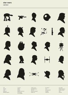Alphabet of Star Wars Silhouettes