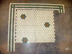 perhaps my favorite hex tile pattern: Emmy's bathroom Hex Tile, Penny Tile, Bath Tiles, Bathroom Floor Tiles, Mosaic Tiles, Tile Floor, Bathroom Plants, Wood Floor, Master Bath Tile