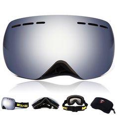 WOLFBIKE Double UV400 Anti-fog Windproof Ski Goggles Snowboard Skiing Glasses