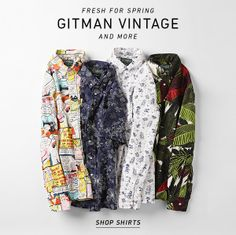 Our favorite spring shirts from Gitman Vintage and more. Shop Now!