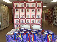 Raffle Quilt and handmade award ribbons made by our members