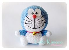 Amigurumi Doraemon Pattern : Laying down doraemon free amigurumi pattern by elinmakes this
