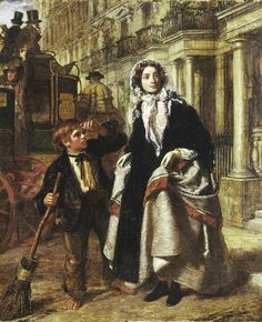 The Crossing Sweeper (1858) - William Powell Frith - (English, 1819 - 1909)