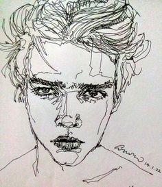 Image result for human illustration line art realistic