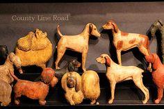 Elliott & Elliott Art and Antiques Folk Art Dogs