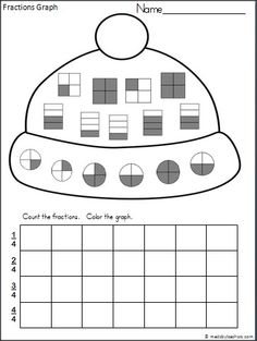 This is a winter fractions recognition and graphing activity available FREE on Madebyteachers.com. Students practice fourths with this activity.