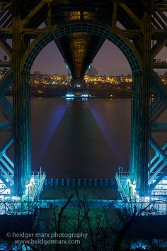 The George Washington Bridge from right below on Henry Hudson Drive NYC