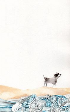 Sketchbook Scribblingtons - Lucy Eldridge Illustration  Love the way the sea is painted here