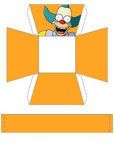 """The Simpsons """"Krusty"""" Basket .... free to use and free to share for personal use. <3"""