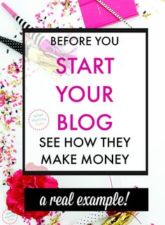 Here's an example you need to see if you want to know how blogs make money! It's a practical example that can be applied to most niches - lifestyle blogs, food blogs, parenting blogs, budgeting blogs, etc. Good info to know if blogging is something you are seriously considering, but you need more examples to understand exactly how monetization works in the blogging world. | money making ideas, make money blogging