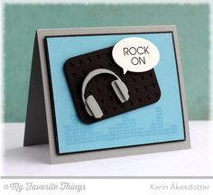 Keep on Rockin', Headphones Die-namics, Blueprints 22 Die-namics - Karin Åkesdotter #mftstamps