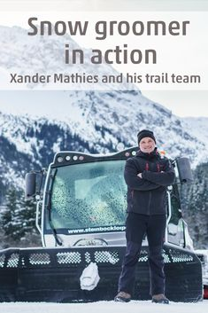 Xander Mathies is responsible for grooming the cross-country trails in Kleinwalsertal. He starts early in the morning to make sure that cross-country skiers are able to stay on track and enjoy their day. Stay On Track, Cross Country, Early Morning, Trail, Skiers, Winter, Snowshoe, Long Distance, Night