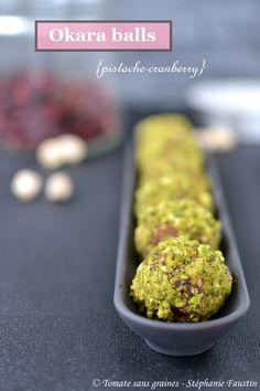 okara balls {pistache-cranberry} : http://tomatesansgraines.blogspot.fr/2018/02/okara-balls-pistache-cranberry.html