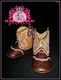 Crystallized Soft Soled Cowboy Boot! These boots are full of bling!! Great for those rhinestone cowgirls out there!!! These come in many sizes and colors!!!