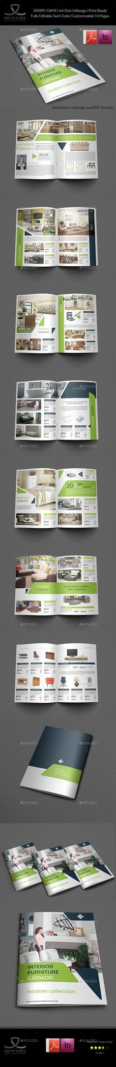 Products Catalogs Brochure 16 Pages Templates InDesign INDD. Download here: http://graphicriver.net/item/products-catalogs-brochure-template-vol4-16-pages/16355323?ref=ksioks