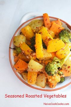 These seasoned roasted vegetables are drenched in an addictive balsamic vinegar Best Roasted Vegetables, Veggies, Vegetable Recipes, Vegetarian Recipes, Healthy Recipes, Incredible Recipes, Perfect Food, Food Print, Side Dishes